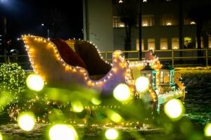 Vidzemenes Ziemeļaustrumu pērle Gulbene  iemirdzas svētku gaismās. Foto: Aleksandrs Lustiks 2