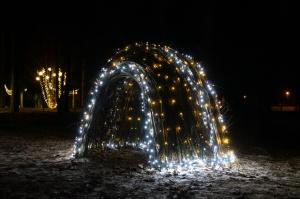Vidzemenes Ziemeļaustrumu pērle Gulbene  iemirdzas svētku gaismās. Foto: Aleksandrs Lustiks 11
