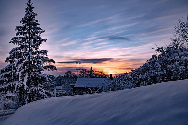 Kad Latgales pilsētu Ludzu pārklāj sniegs 296616