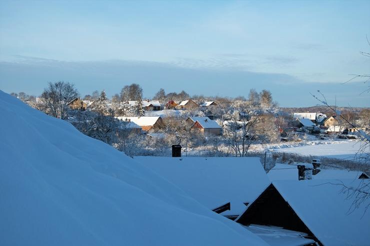 Kad Latgales pilsētu Ludzu pārklāj sniegs 296617