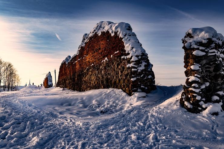 Kad Latgales pilsētu Ludzu pārklāj sniegs 296609