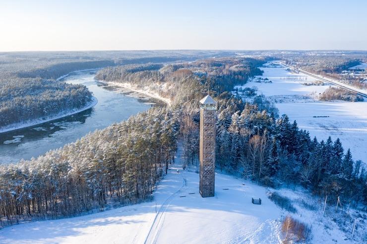 photo: Ar sveicieniemno kaiminiem lietuviešiem - ziema Birštonā