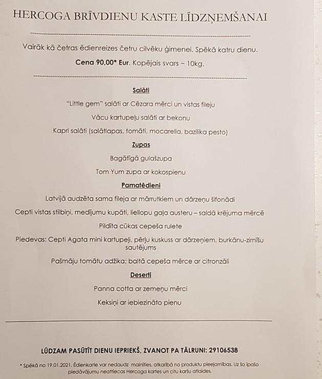 Travelnews.lv apceļo Latviju un cenšas noēst restorāna «Hercogs Mārupe» 90 eiro vērto «Brīvdienu kasti» 297213