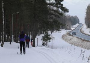 Ogres Zilo kalnu distanču slēpošanas trases ir pieprasīts ziemas aktivitāšu centrs 11