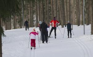 Ogres Zilo kalnu distanču slēpošanas trases ir pieprasīts ziemas aktivitāšu centrs 12