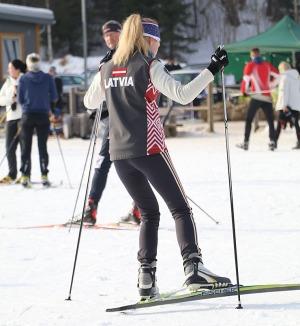 Ogres Zilo kalnu distanču slēpošanas trases ir pieprasīts ziemas aktivitāšu centrs 8