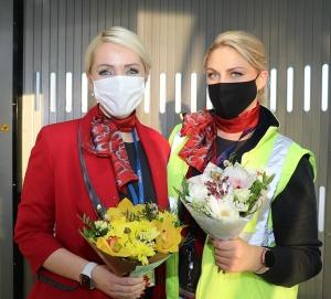 Pēc 375 dienu prombūtnes lidsabiedrības «Turkish Airlines» lidmašīna ir atkal Rīgas lidostā 21