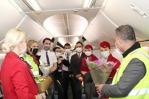 Pēc 375 dienu prombūtnes lidsabiedrības «Turkish Airlines» lidmašīna ir atkal Rīgas lidostā 22