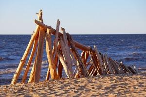 Mākslinieku dvēselēm šobrīd ir jādodas uz Carnikavas pludmali 2