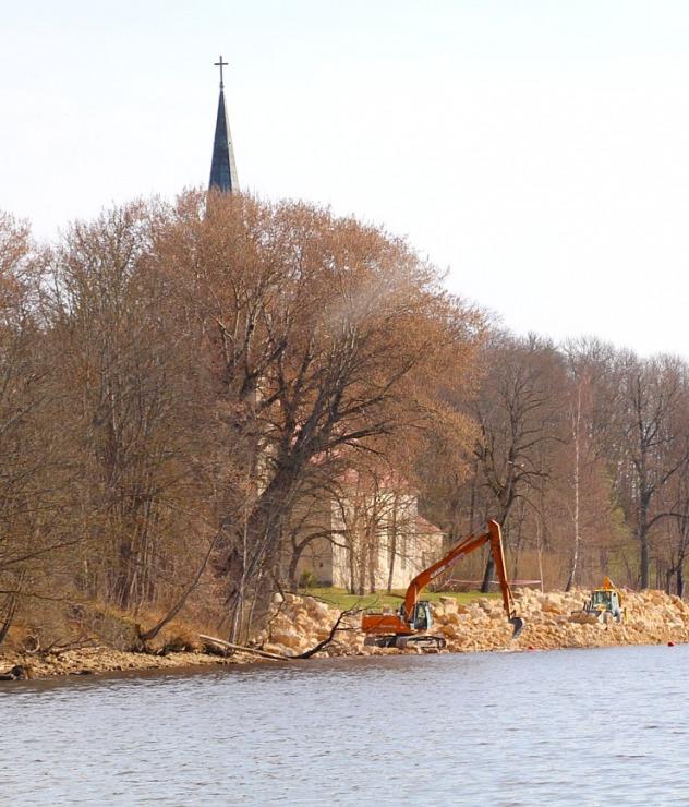 Kokneses parks starp Pērses un Daugavas krastiem ir burvīga atpūtas un pastaigu vieta 300078