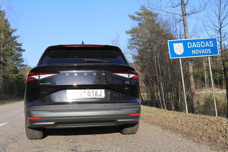 Travelnews.lv pirmo reizi apceļo Latgali 600 km maršrutā ar elektrisko «Škoda Enyaq iV 80» 300224