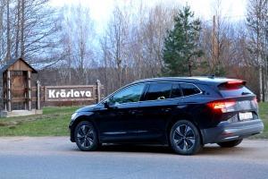Travelnews.lv pirmo reizi apceļo Latgali 600 km maršrutā ar elektrisko «Škoda Enyaq iV 80» 9
