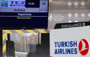 Pēc 539 dienām tūroperators «Tez Tour Latvija» atsāk čarterlidojumus uz Antalju ar «Turkish Airlines» 2