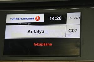 Pēc 539 dienām tūroperators «Tez Tour Latvija» atsāk čarterlidojumus uz Antalju ar «Turkish Airlines» 13