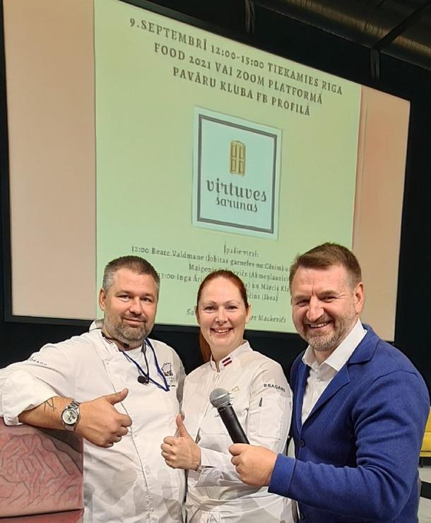 «Riga Food 2021» viesistabā 9.09-10.09.2021 risinās 3 stundu Pavāru kluba «Virtuves sarunas». Foto: Inese Libere 306816
