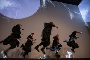 Digital Art House piedāvā imersīvās izstādes pirmizrādi – «Japānas sapņi – Plūstošās pasaules tēli». Foto: Digital Art House 1