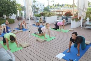 Travelnews.lv apmeklē jogas nodarbību Tenerifes luksus viesnīcā «Hotel Vulcano» 8