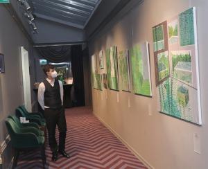 Sandra Strēle kopā ar Latvijas Mākslas akadēmiju (LMA) atklāj personālizstādi «Citi laiki» Rīgas viesnīcā «Grand Poet by Semarah Hotels» 14