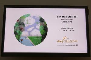 Sandra Strēle kopā ar Latvijas Mākslas akadēmiju (LMA) atklāj personālizstādi «Citi laiki» Rīgas viesnīcā «Grand Poet by Semarah Hotels» 32