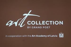 Sandra Strēle kopā ar Latvijas Mākslas akadēmiju (LMA) atklāj personālizstādi «Citi laiki» Rīgas viesnīcā «Grand Poet by Semarah Hotels» 5