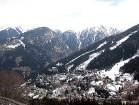 Bad Gasteinas trase no augšas. Lejā Bad Gastein ciemats 8