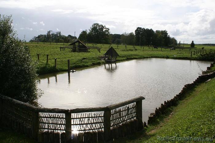 Lauku zoo Cīruļi teritorija ir 137 hektāru plaša