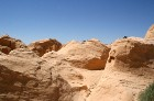 Vēja darinātās smilšu klintis Dbebcha ciemā (Tunisijā) 5