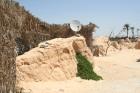 Vēja darinātās smilšu klintis Dbebcha ciemā (Tunisijā) 8