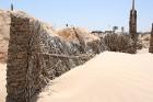 Vēja darinātās smilšu klintis Dbebcha ciemā (Tunisijā) 9
