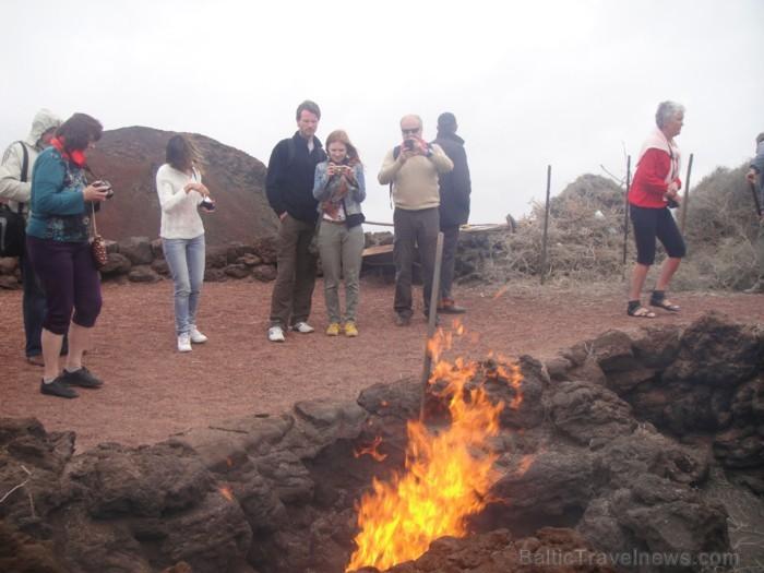 Lansarotes sala. Islote de Hilario- krāteris ar visaugstāko virsmas temperatūru reģionā. Izbaudām vēl darbojošos aktivitāti. Ģeotermālā enerģija ir ti