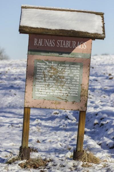 Raunas staburags ir aptuveni 3,5 m augsts un 17 m garš šūnakmens veidojums un tas ir vienīgais šāda veida dabas objekts Latvijā pēc Daugavas Staburaga