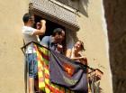 Katalonijas kasteljeri pārsteidz tūristus ar cilvēku torņiem 14