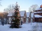 Valmiera ar Gauju līkumotu - pilsētas iedzīvotājus priecē skaisti un sniegoti skati 5