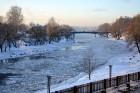 Valmiera ar Gauju līkumotu - pilsētas iedzīvotājus priecē skaisti un sniegoti skati 7
