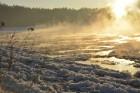 Valmiera ar Gauju līkumotu - pilsētas iedzīvotājus priecē skaisti un sniegoti skati 19