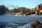 Valmiera ar Gauju līkumotu - pilsētas iedzīvotājus priecē skaisti un sniegoti skati 8