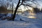 Valmiera ar Gauju līkumotu - pilsētas iedzīvotājus priecē skaisti un sniegoti skati 20