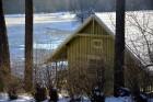 Valmiera ar Gauju līkumotu - pilsētas iedzīvotājus priecē skaisti un sniegoti skati 17