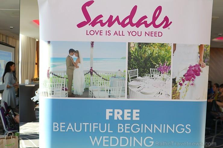 Latvijas tūrisma firmas iepazīst Sandals aktuālos kāzu svinību ceļojumus