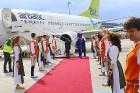 Starptautiskā lidosta «Rīga» sagaida 19.04.2017 pasažieri no Zviedrijas ar numuru 60 000 000 3