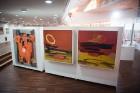 Liepājas koncertzālē «Lielais dzintars» atklāta latviešu gleznotājas Džemmas Skulmes personālizstāde «Krāsas garša» 2