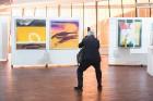 Liepājas koncertzālē «Lielais dzintars» atklāta latviešu gleznotājas Džemmas Skulmes personālizstāde «Krāsas garša» 4