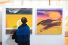 Liepājas koncertzālē «Lielais dzintars» atklāta latviešu gleznotājas Džemmas Skulmes personālizstāde «Krāsas garša» 6