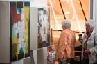 Liepājas koncertzālē «Lielais dzintars» atklāta latviešu gleznotājas Džemmas Skulmes personālizstāde «Krāsas garša» 34