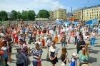 Ar ziepju burbuļu salūtu Rīgā atklāj Centra sporta kvartāla rotaļu laukumu 12
