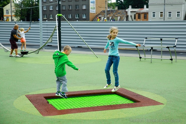 Rīgā aktīvi norisinās darbi, lai 16.septembrī atklātu Centra sporta kvartālu