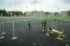 Rīgā aktīvi norisinās darbi, lai 16.septembrī atklātu Centra sporta kvartālu 13