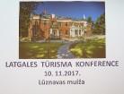 Lūznavas muižā 10.11.2017 notiek Latgales tūrisma konference 2