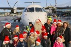 Ar somu lidsabiedsabiedrības «Finnair» lidmašīnu 5.12.2017 Rīgā ielido Ziemassvētku vecītis no Lapzemes 1