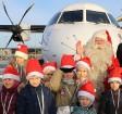 Ar somu lidsabiedsabiedrības «Finnair» lidmašīnu 5.12.2017 Rīgā ielido Ziemassvētku vecītis no Lapzemes 13